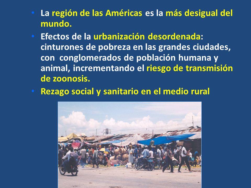 La región de las Américas es la más desigual del mundo.