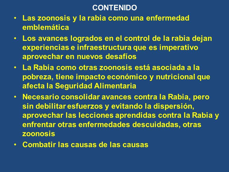 CONTENIDO Las zoonosis y la rabia como una enfermedad emblemática.