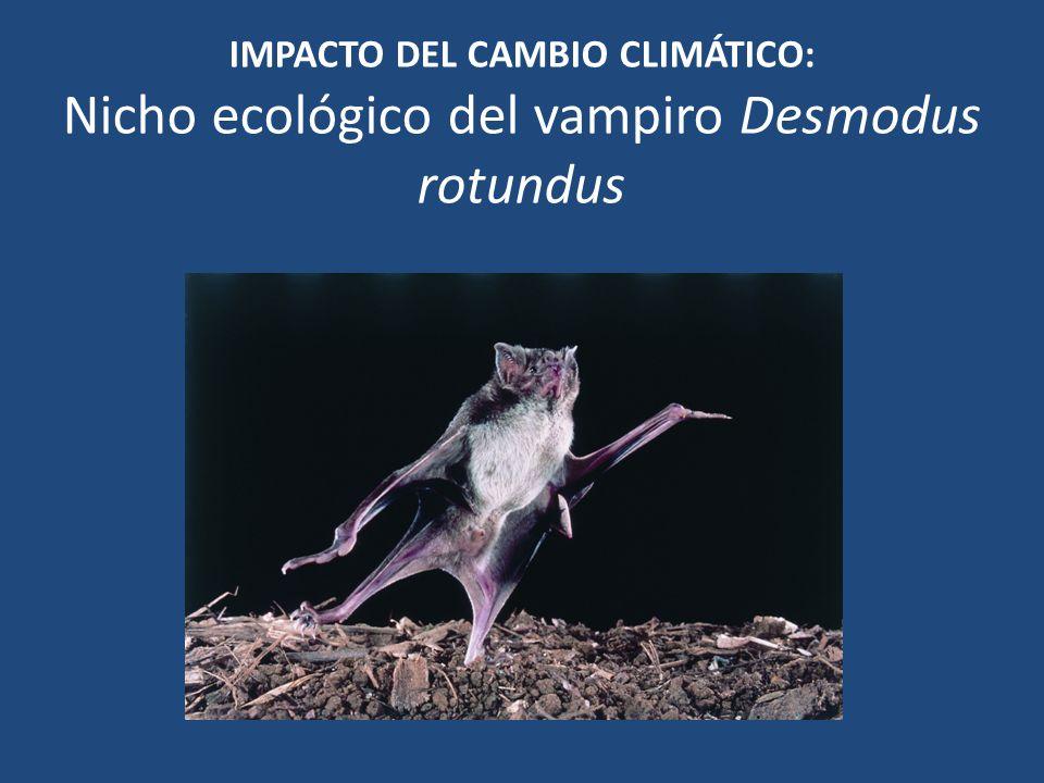 IMPACTO DEL CAMBIO CLIMÁTICO: Nicho ecológico del vampiro Desmodus rotundus