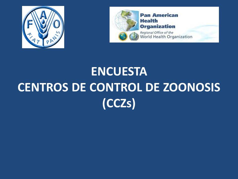 ENCUESTA CENTROS DE CONTROL DE ZOONOSIS (CCZs)
