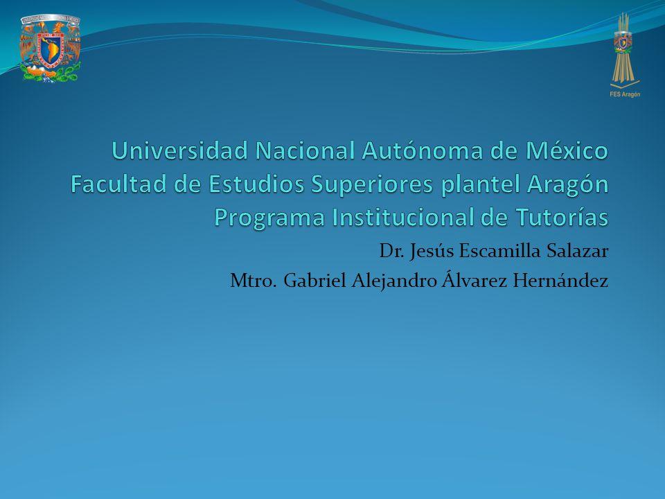 Dr. Jesús Escamilla Salazar Mtro. Gabriel Alejandro Álvarez Hernández