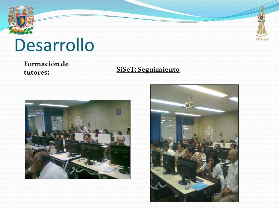 Desarrollo Formación de tutores: SiSeT: Seguimiento