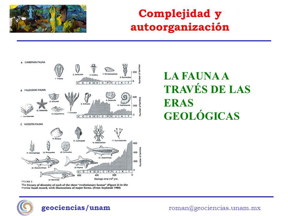 LA FAUNA A TRAVÉS DE LAS ERAS GEOLÓGICAS