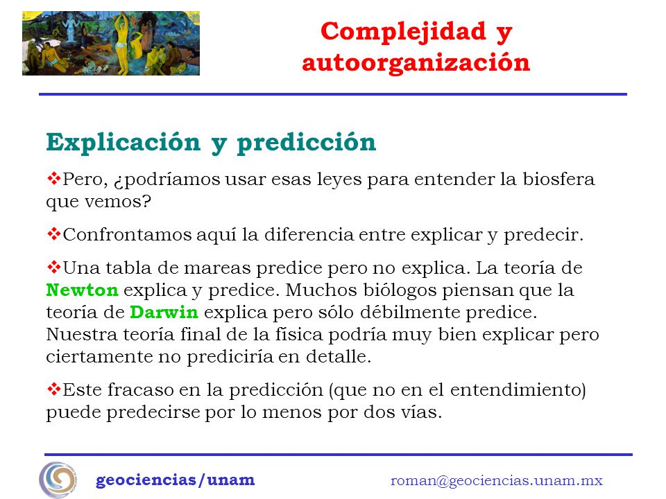 Explicación y predicción