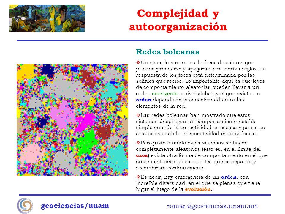 Redes boleanas geociencias/unam roman@geociencias.unam.mx