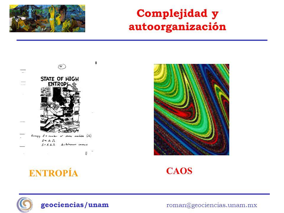 CAOS ENTROPÍA geociencias/unam roman@geociencias.unam.mx