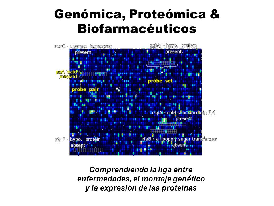 Genómica, Proteómica & Biofarmacéuticos