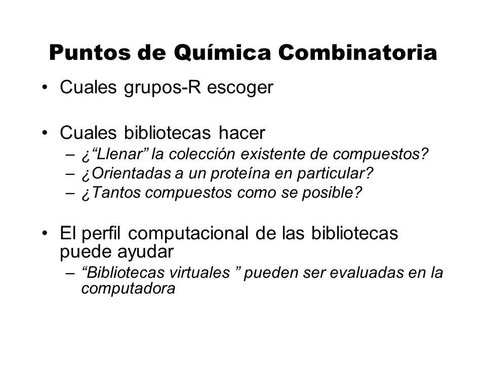 Puntos de Química Combinatoria
