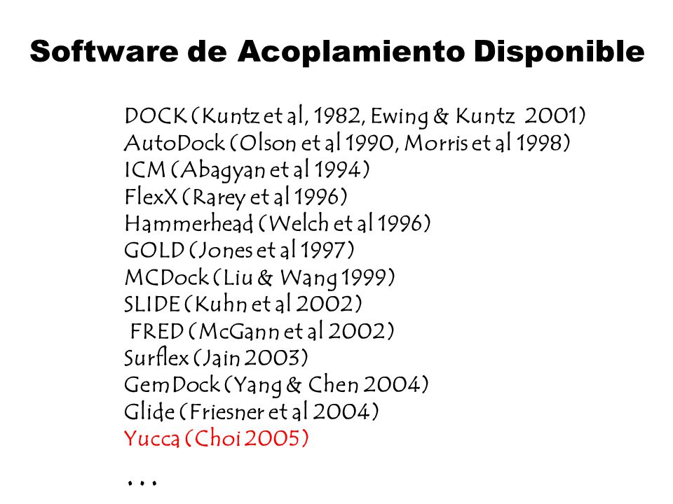 Software de Acoplamiento Disponible