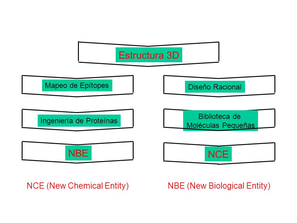 Estructura 3D NBE NCE NCE (New Chemical Entity)