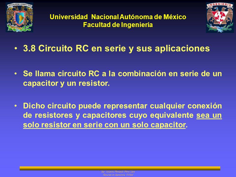 3.8 Circuito RC en serie y sus aplicaciones