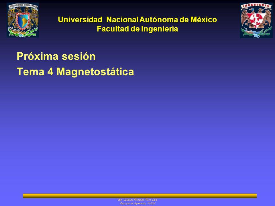 Próxima sesión Tema 4 Magnetostática