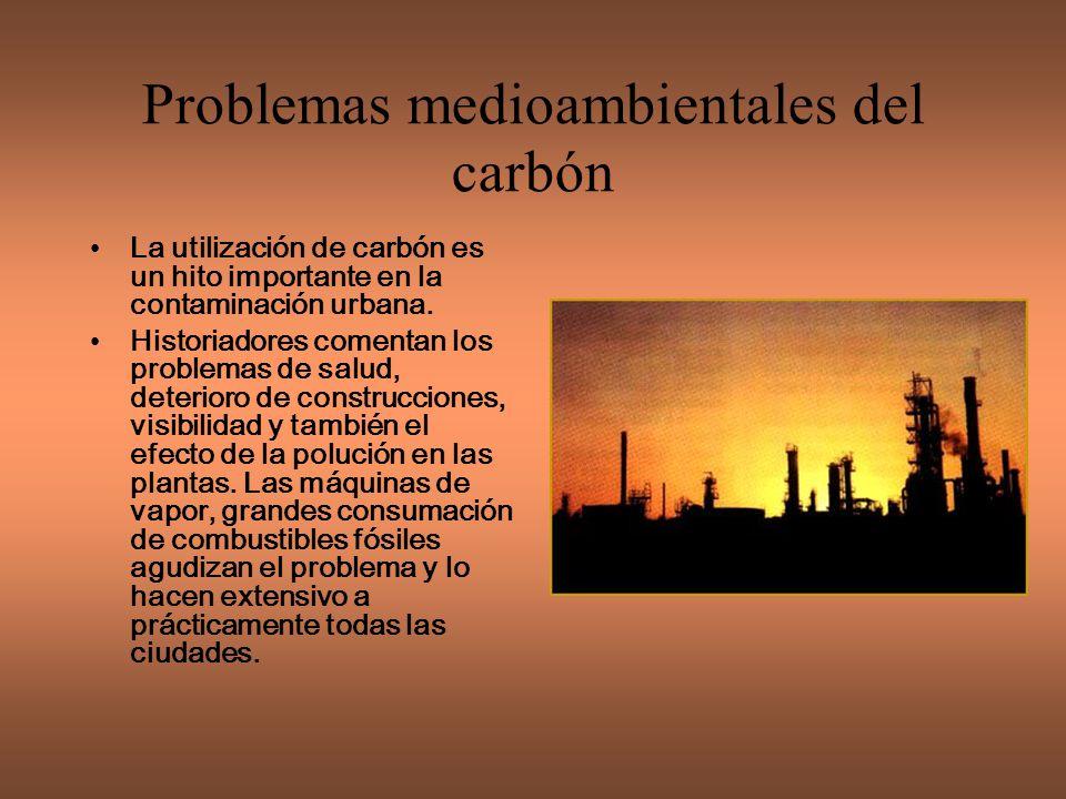 Problemas medioambientales del carbón