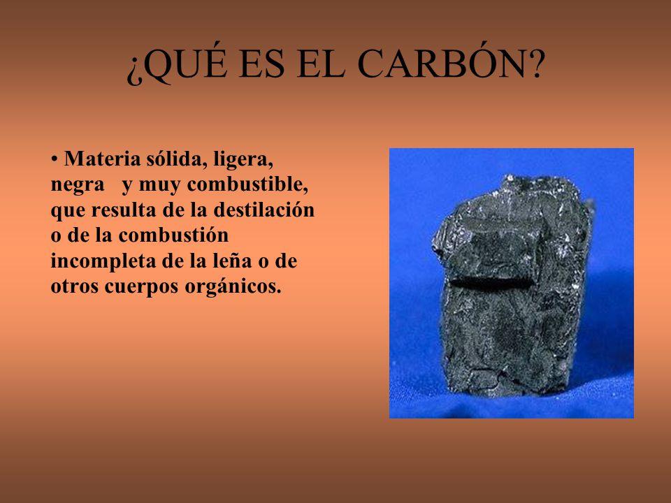 ¿QUÉ ES EL CARBÓN
