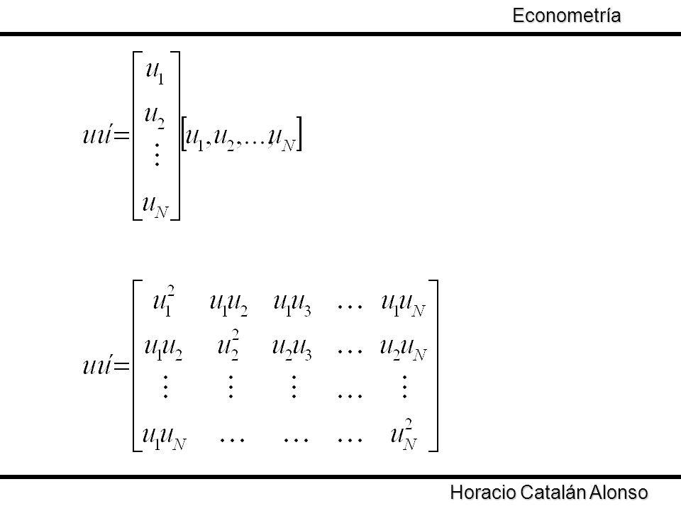 Econometría Horacio Catalán Alonso
