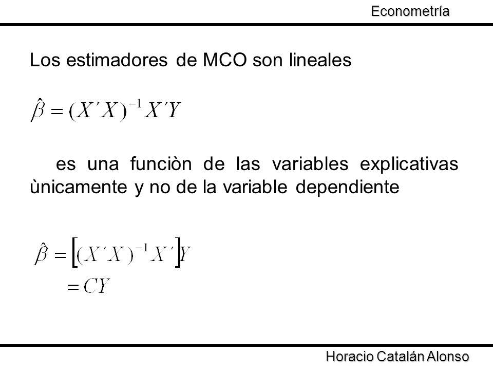Los estimadores de MCO son lineales