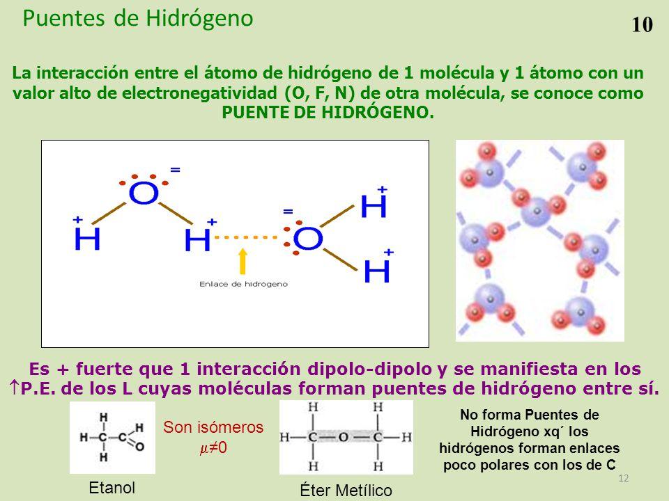 Puentes de Hidrógeno 10.