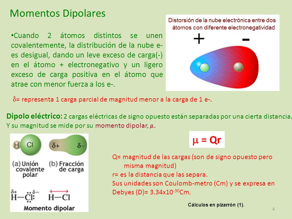 Momentos Dipolares  = Qr