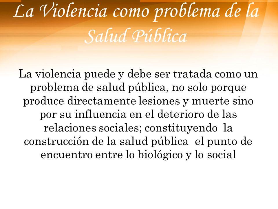 La Violencia como problema de la Salud Pública