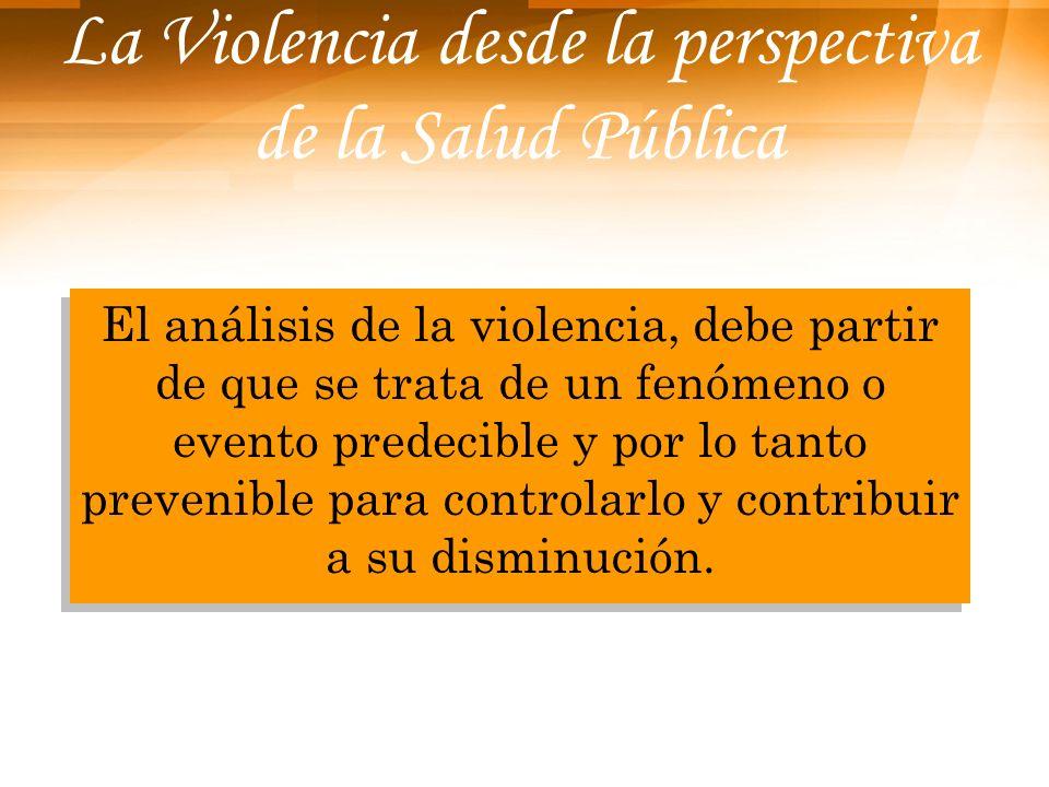 La Violencia desde la perspectiva de la Salud Pública