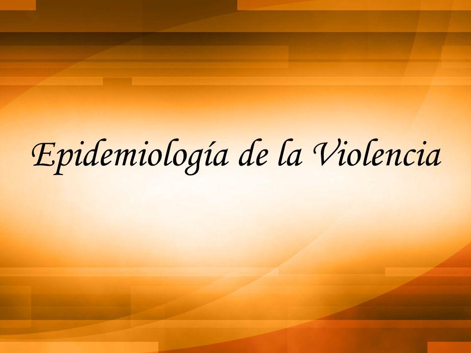 Epidemiología de la Violencia