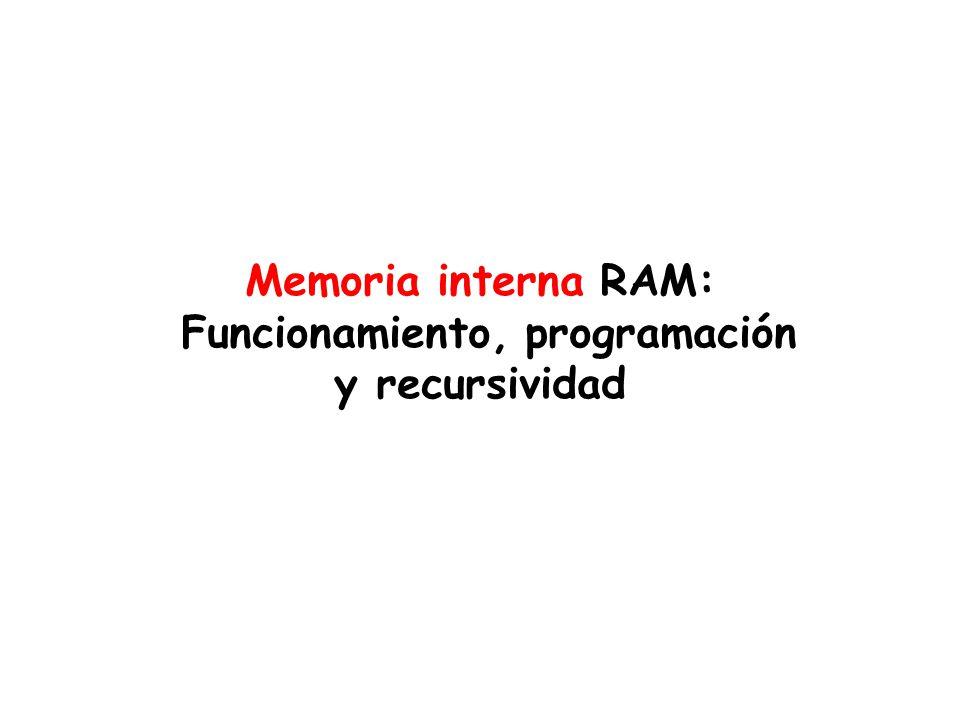 Funcionamiento, programación