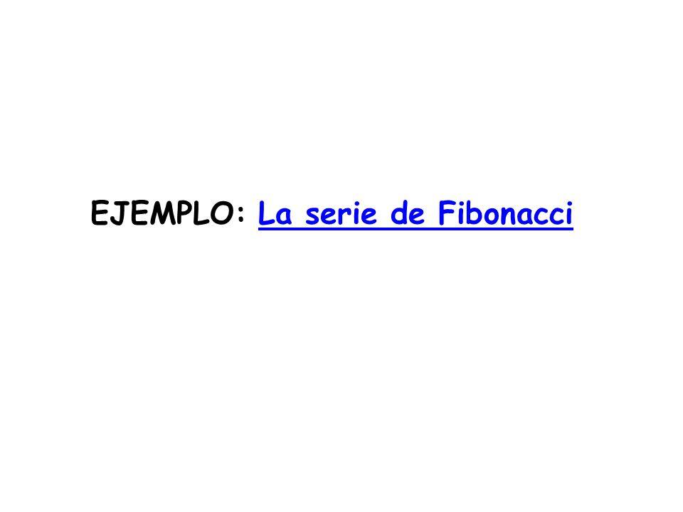 EJEMPLO: La serie de Fibonacci