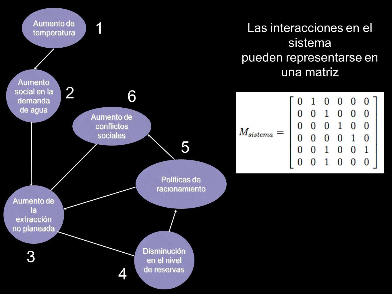 1 2 6 5 3 4 Las interacciones en el sistema