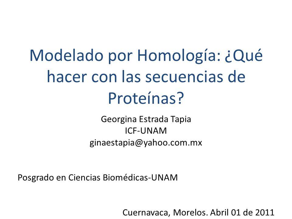 Modelado por Homología: ¿Qué hacer con las secuencias de Proteínas