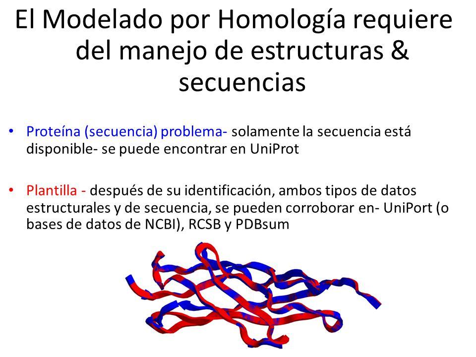 El Modelado por Homología requiere del manejo de estructuras & secuencias