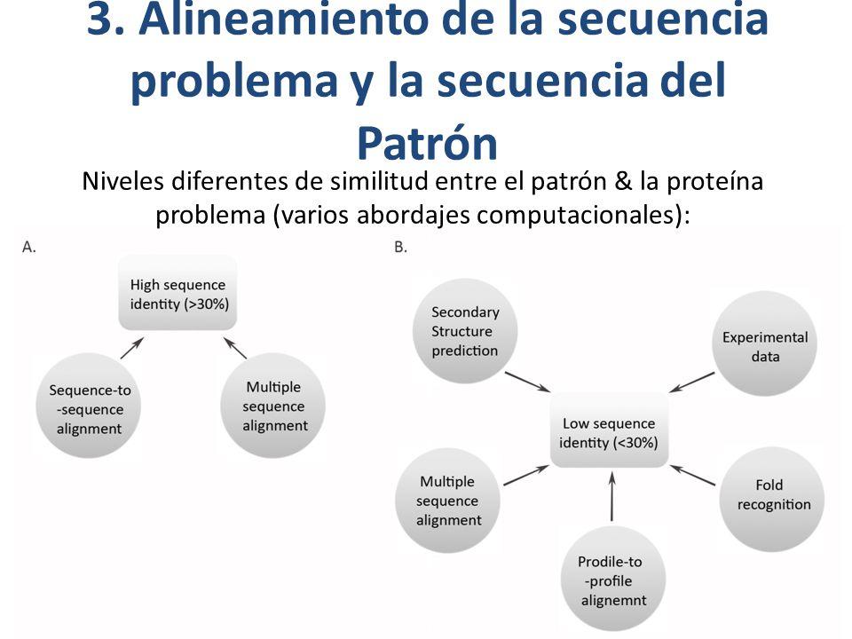 3. Alineamiento de la secuencia problema y la secuencia del Patrón