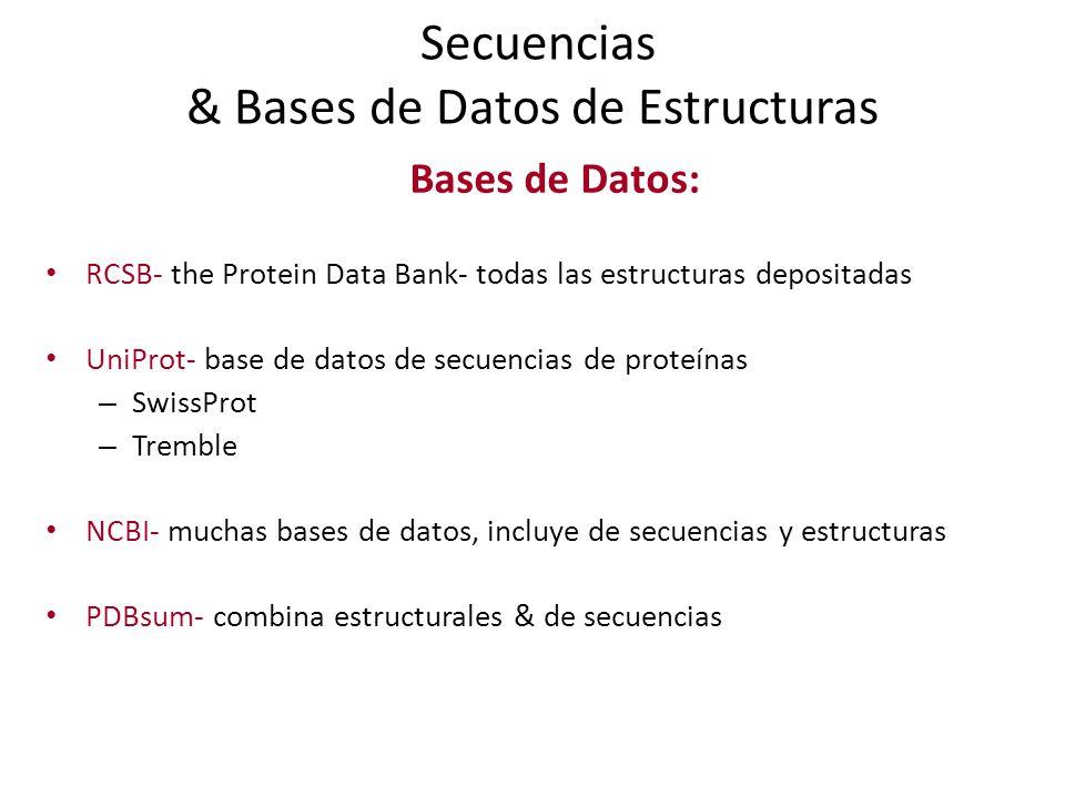 Secuencias & Bases de Datos de Estructuras