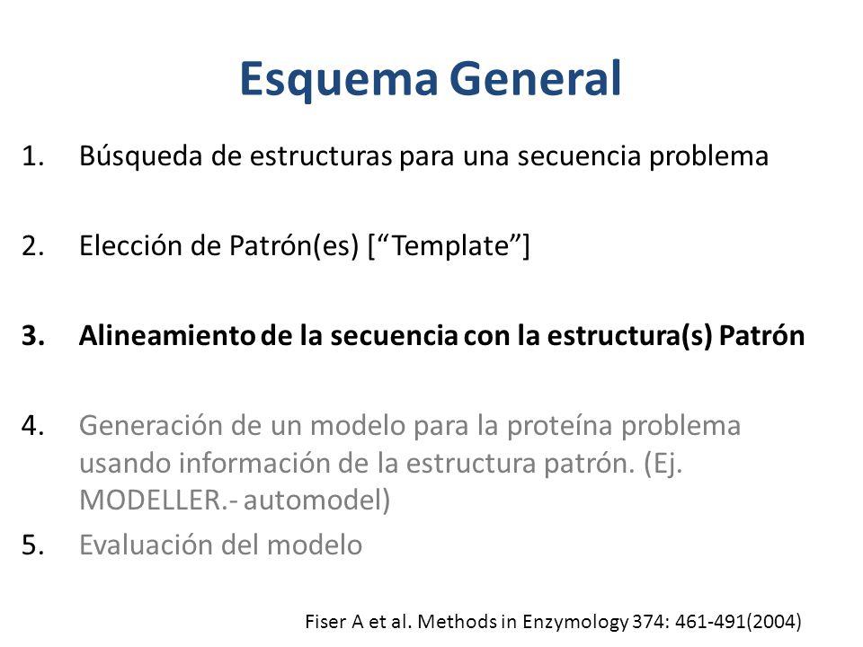 Esquema General Búsqueda de estructuras para una secuencia problema