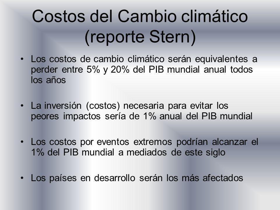 Costos del Cambio climático (reporte Stern)
