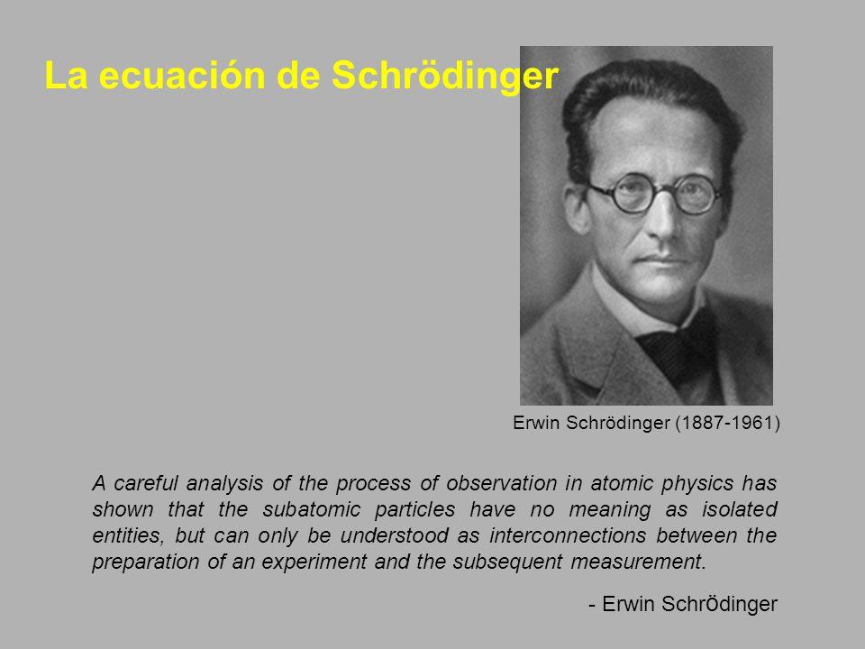 La ecuación de Schrödinger