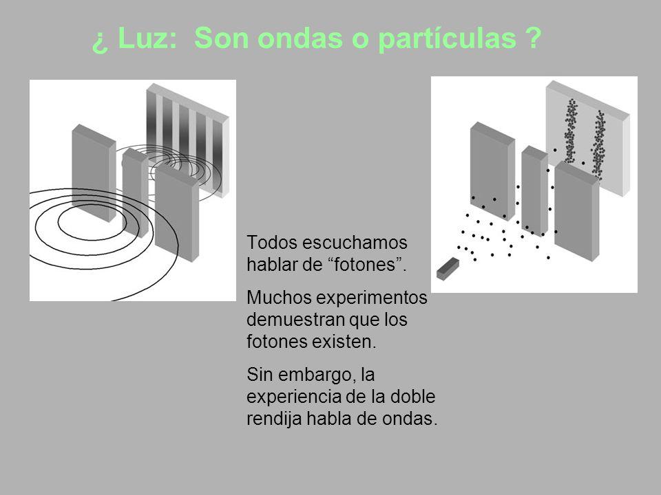 ¿ Luz: Son ondas o partículas