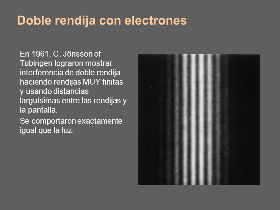 Doble rendija con electrones