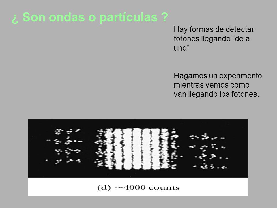 ¿ Son ondas o partículas