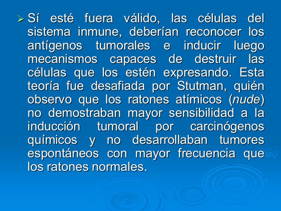 Sí esté fuera válido, las células del sistema inmune, deberían reconocer los antígenos tumorales e inducir luego mecanismos capaces de destruir las células que los estén expresando.