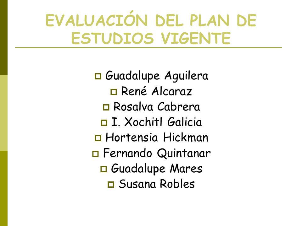 EVALUACIÓN DEL PLAN DE ESTUDIOS VIGENTE