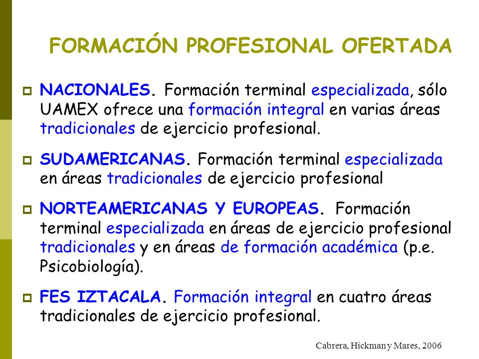 FORMACIÓN PROFESIONAL OFERTADA