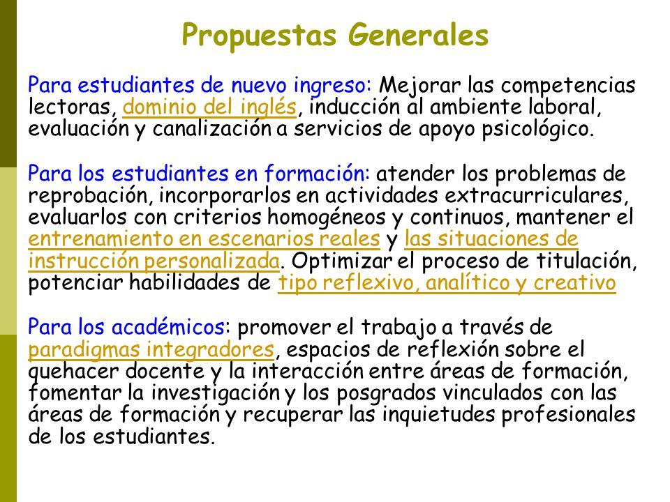 Propuestas Generales