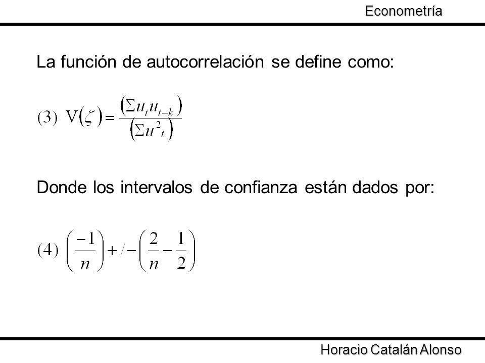 La función de autocorrelación se define como: