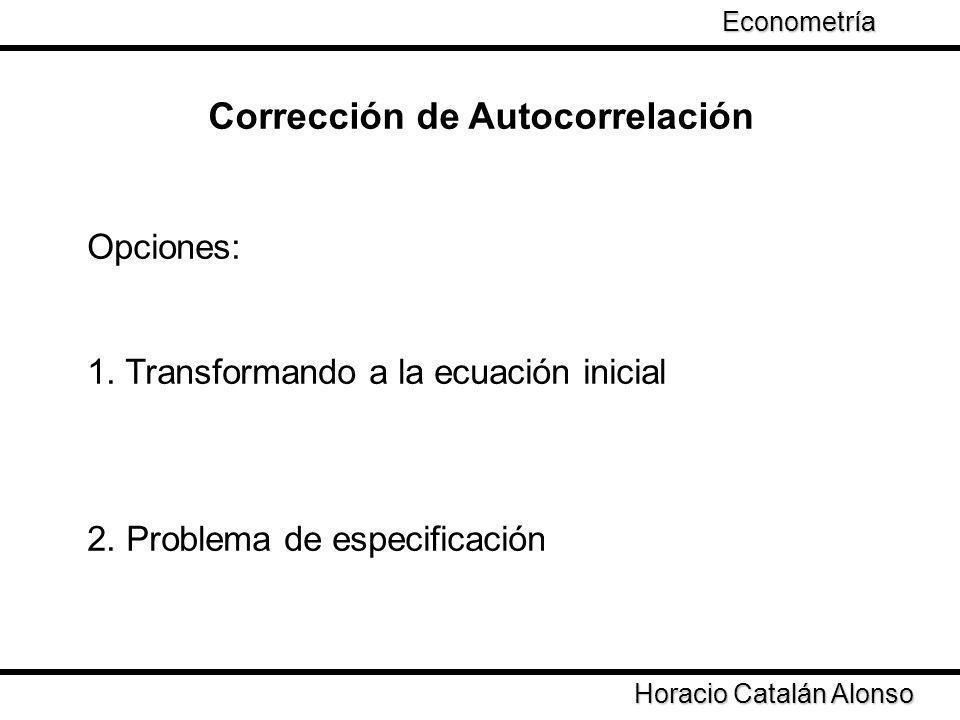 Corrección de Autocorrelación