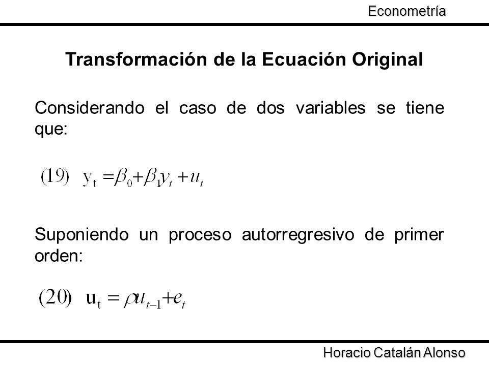Transformación de la Ecuación Original