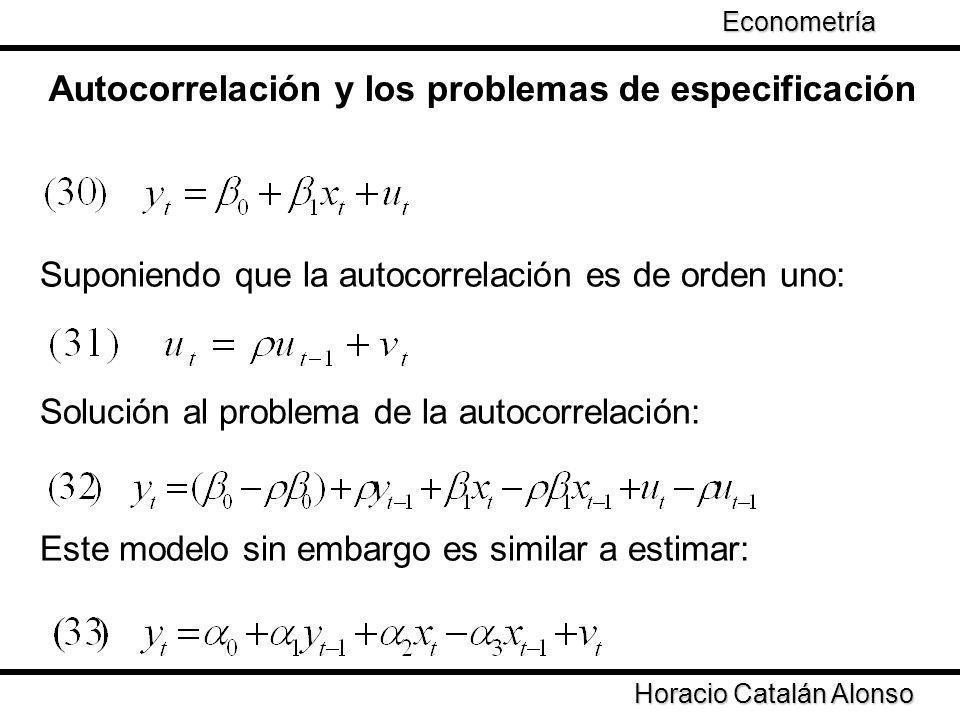 Autocorrelación y los problemas de especificación