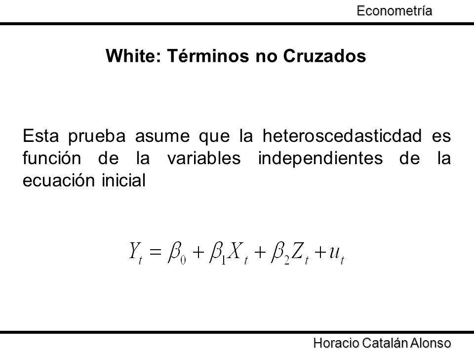 White: Términos no Cruzados
