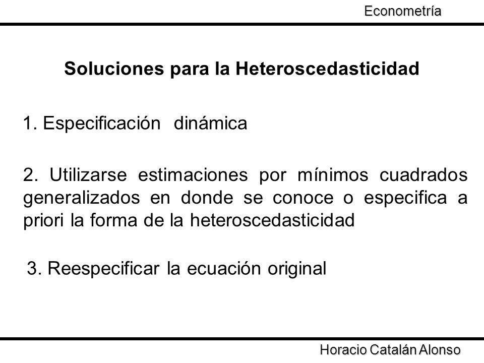 Soluciones para la Heteroscedasticidad