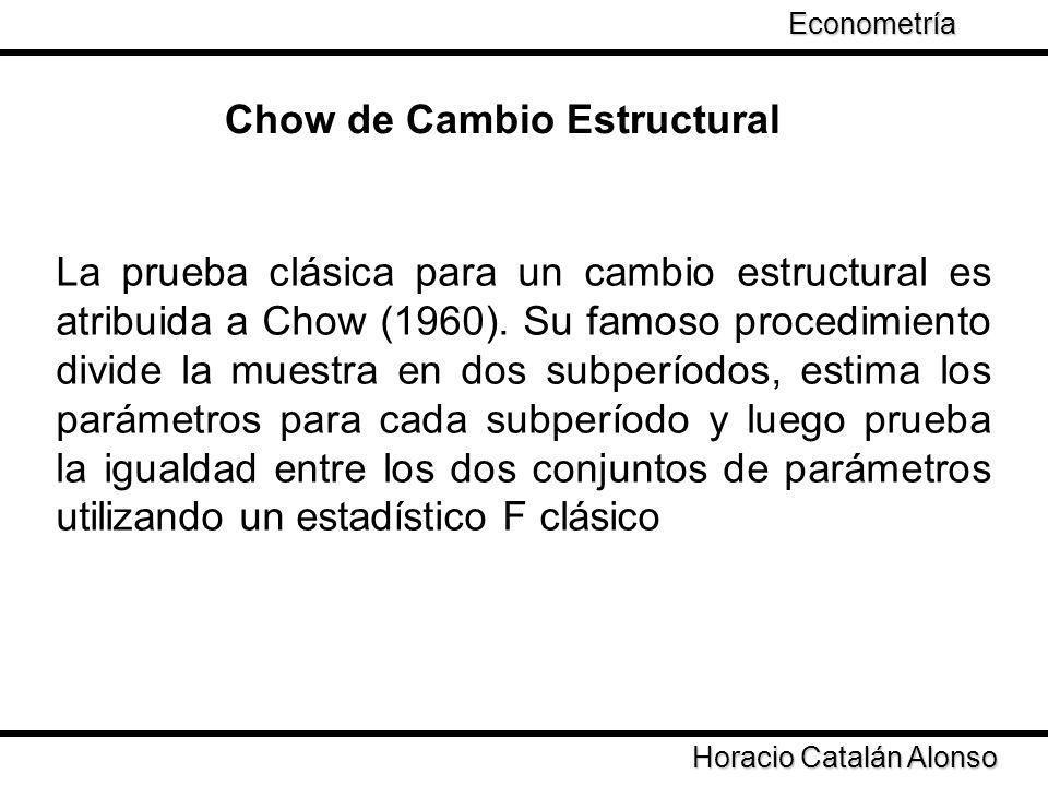 Chow de Cambio Estructural