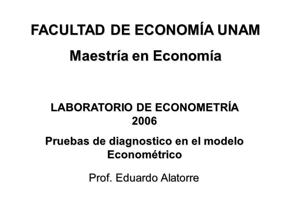 FACULTAD DE ECONOMÍA UNAM Maestría en Economía